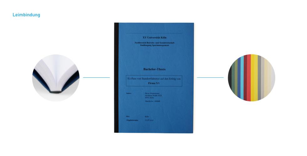 Bindungen - Klebebindung/Leimbindung