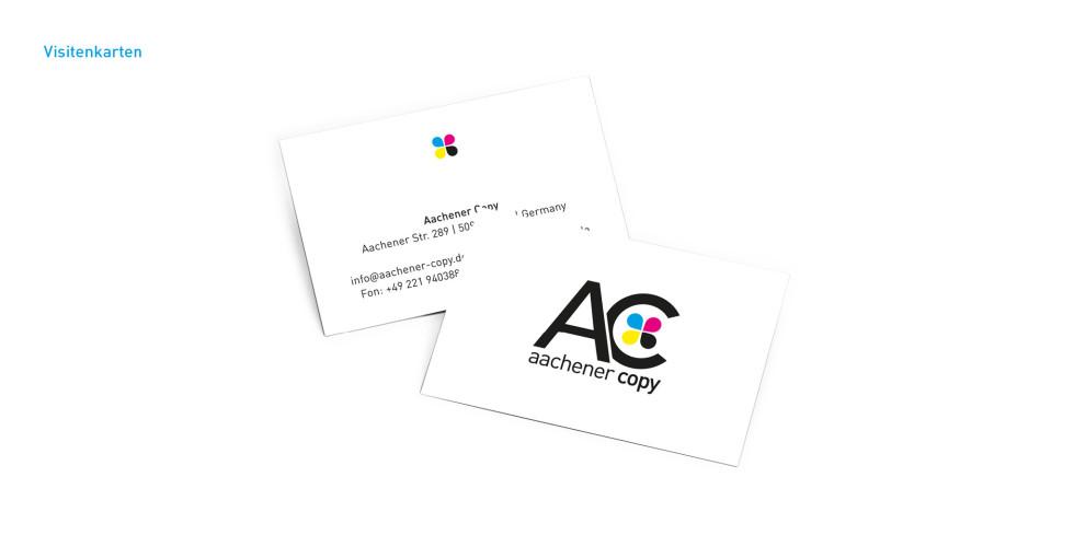 Visitenkarten Schon Ab Kleiner Auflage Aachener Copy